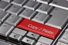 Abbildung Tastatur mit Copy & Paste als Return-Taste