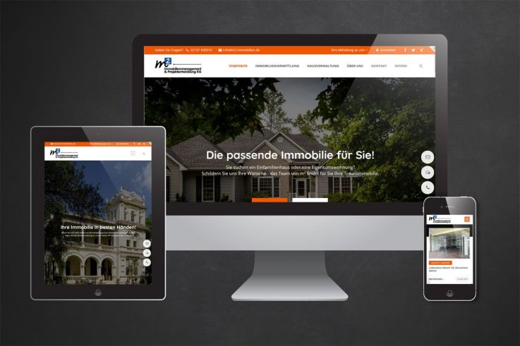 Website Screenshot m2-immobilien.de
